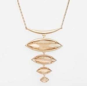Kendra Scott Rose Dust Bib Necklace